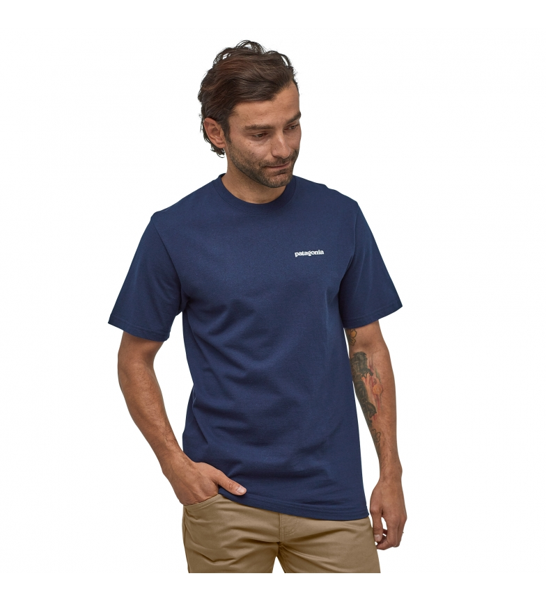 Comprar Patagonia Unisex M's P-6 T-Shirt Responsibili Logotipo marinho
