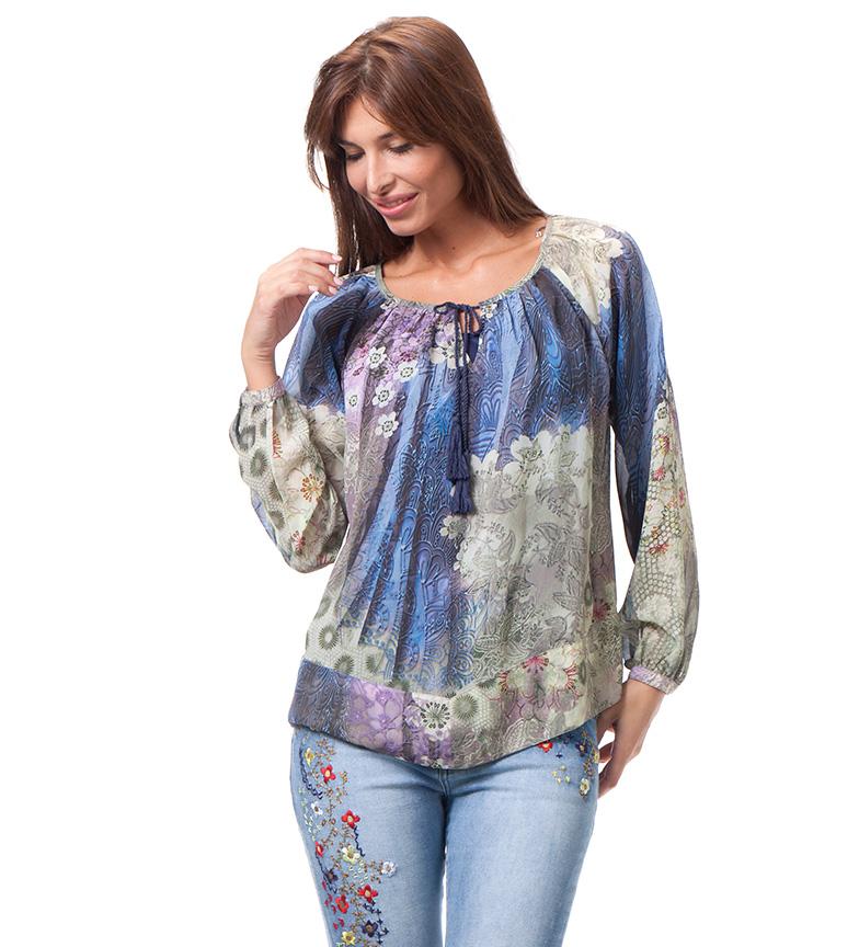 Comprar Peace and Love Multicolore blouse Bourgogne
