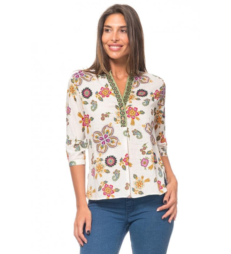 Comprar Peace and Love Ecru print blouse