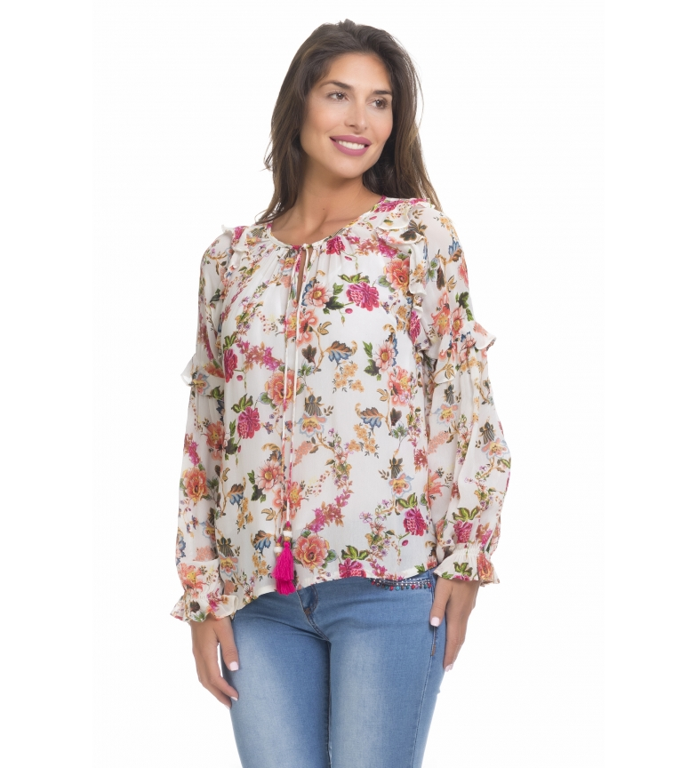 Comprar Peace and Love Multicolored printed blouse