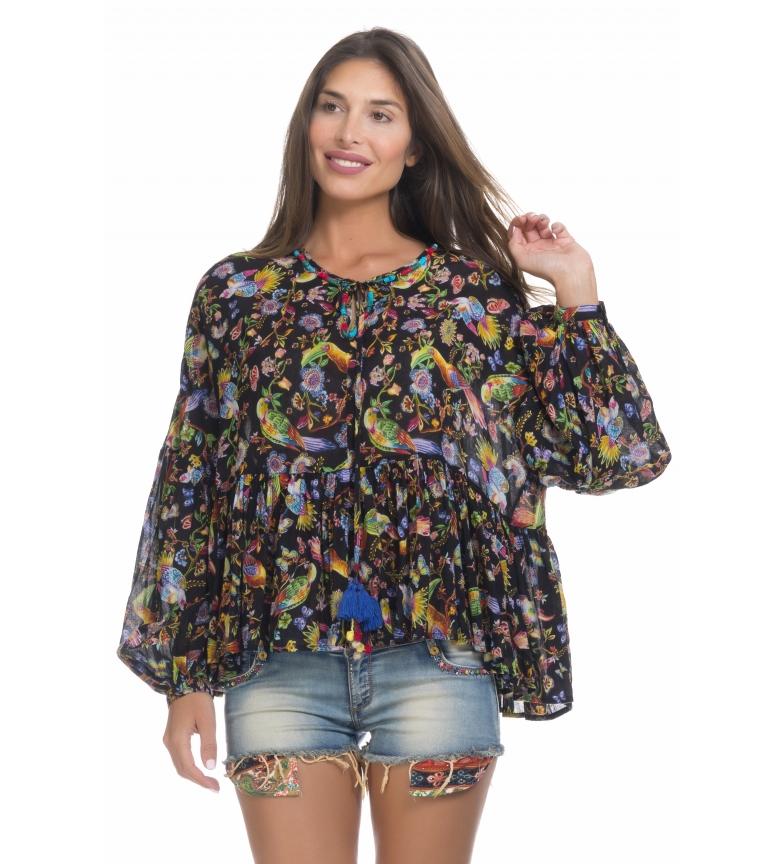 Comprar Peace and Love Black print blouse