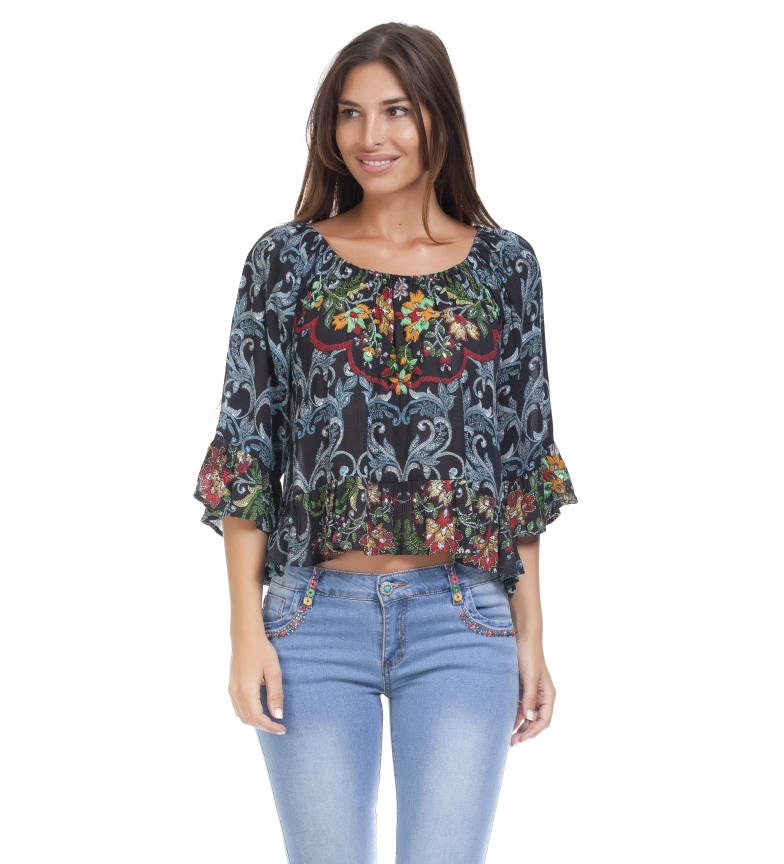 Comprar Peace and Love Blusa estampada multicolor