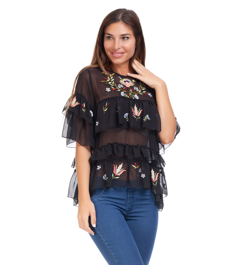 Comprar Peace and Love Blusa Garoa negro