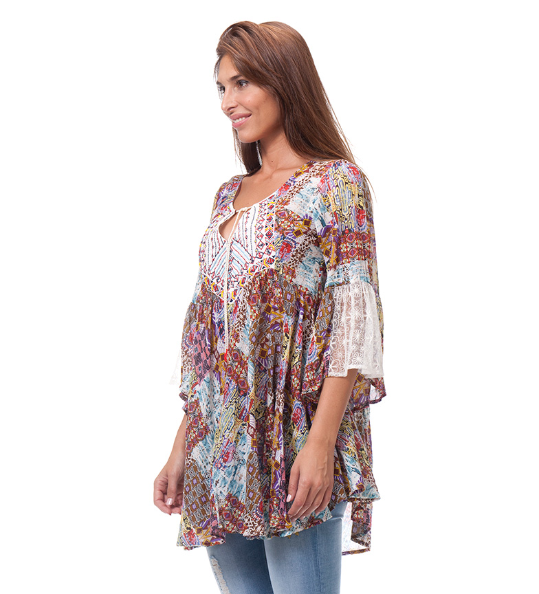 Heli Love Peace And Multicolor Blusa 54jc3RLASq