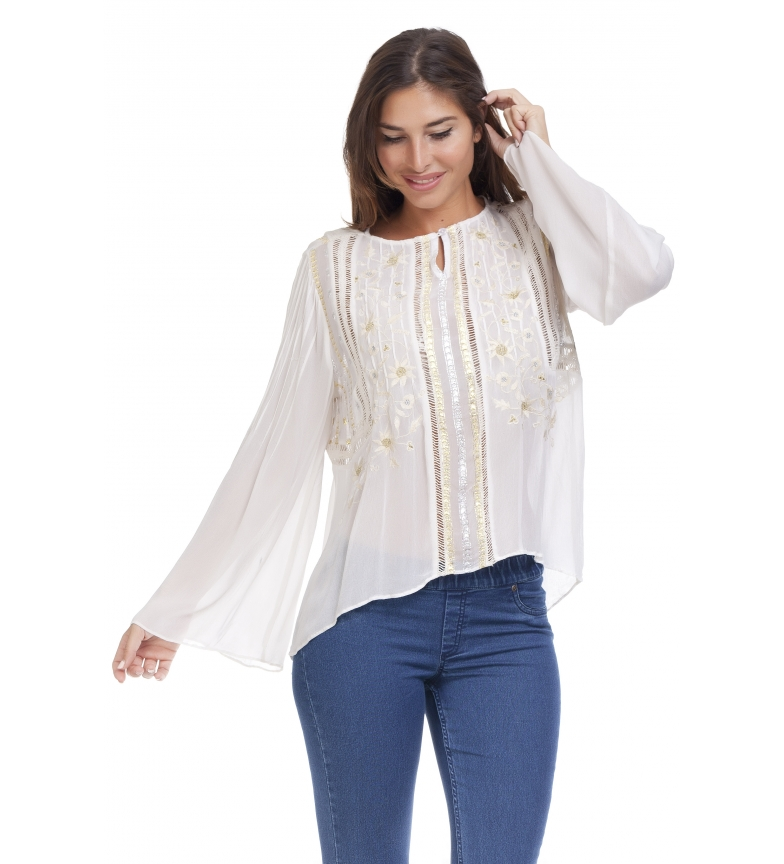 Comprar Peace and Love Ecru Litta blouse