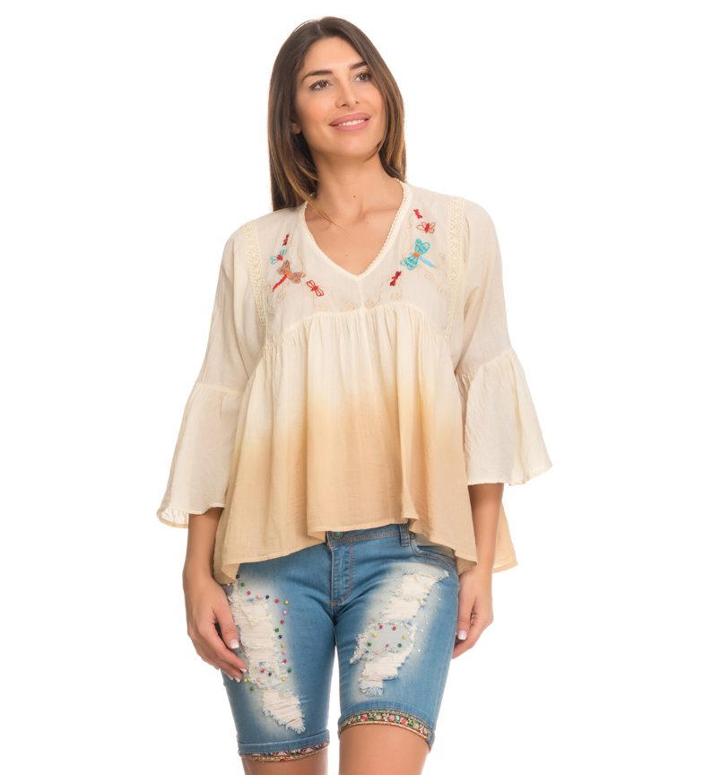 Comprar Peace and Love Blusa Narval beige
