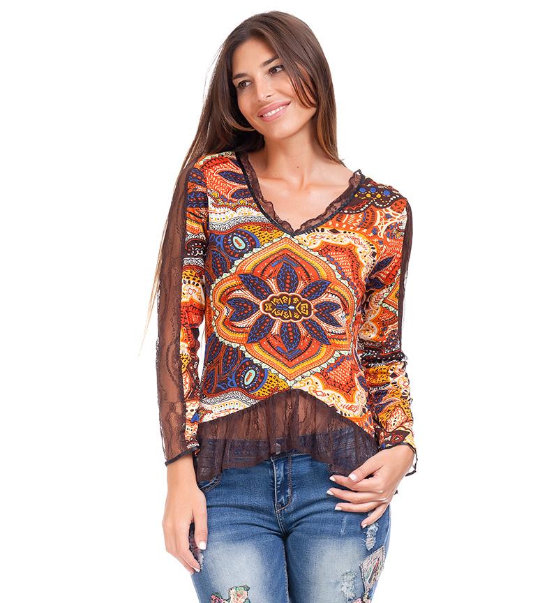 Comprar Peace and Love Rima camicia multicolore