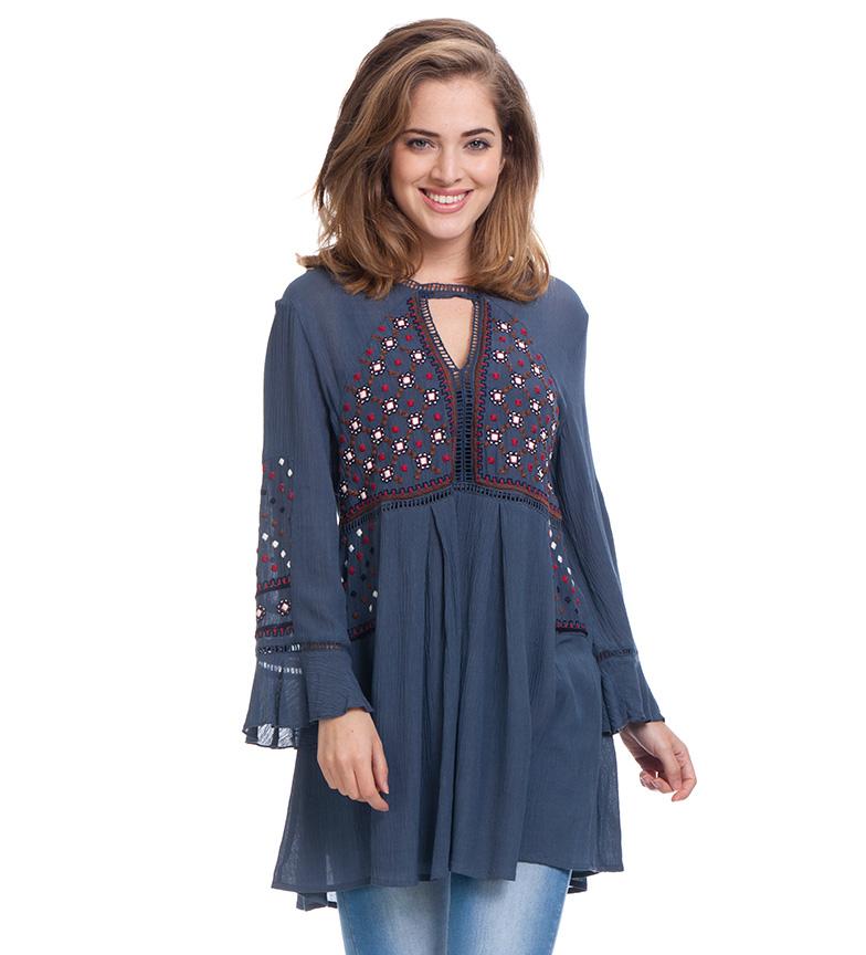 Comprar Peace and Love Blusa Xana azul