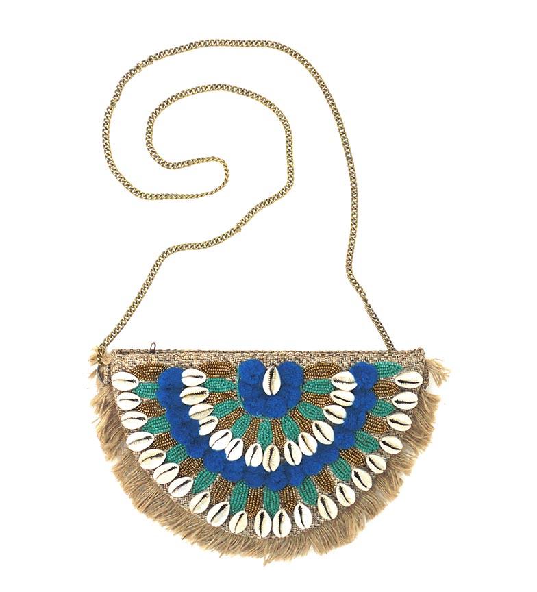Comprar Peace and Love Bolso Artesanal azul - 27x17cm-