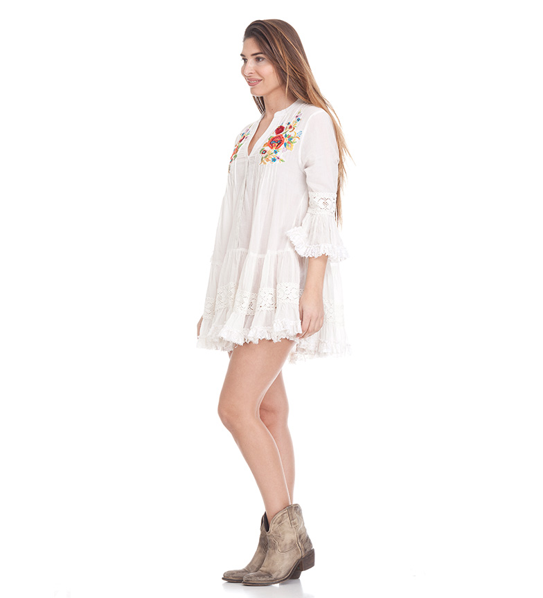 Peace and Love Blusa Capri blanco
