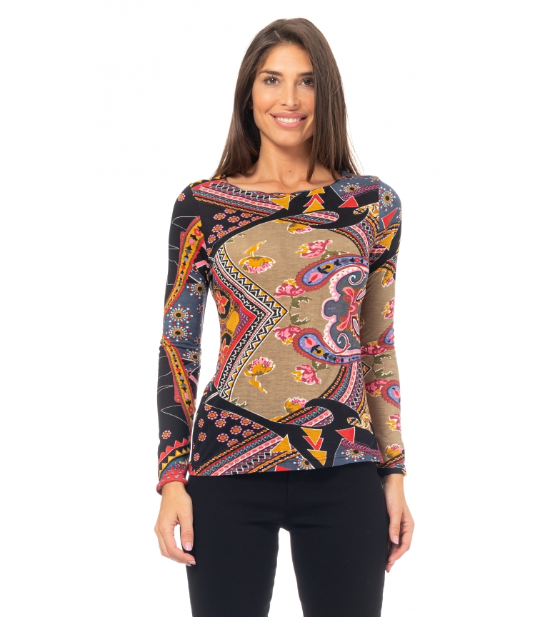 Comprar Peace and Love T-shirt imprimé multicolore