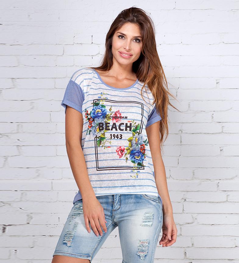 Comprar Peace and Love Camiseta Ola azul