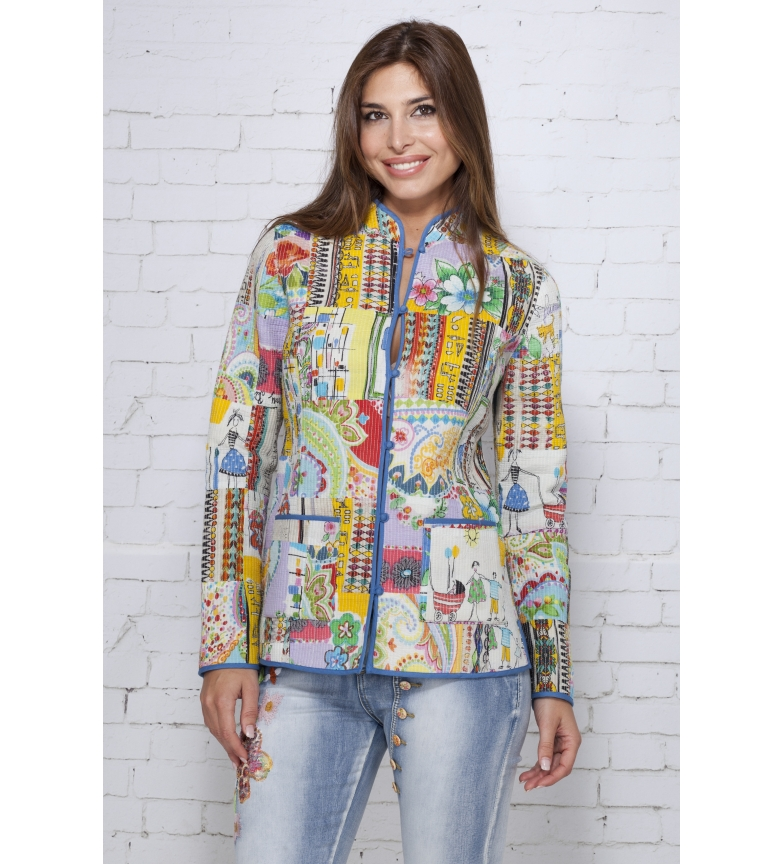 And Peace Chaqueta Multicolor Iria Love 80OymvNwn