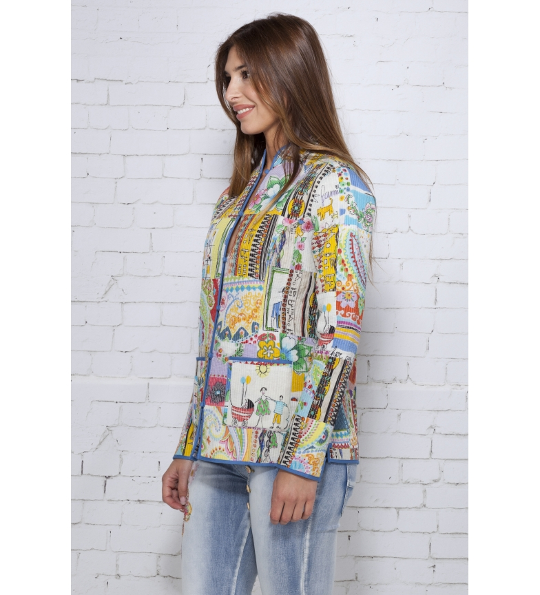Iria Chaqueta Multicolor Love And Peace wXTiuOZPk