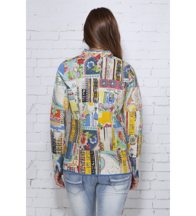 Iria Multicolor Love And Peace Chaqueta kXuPZTOi