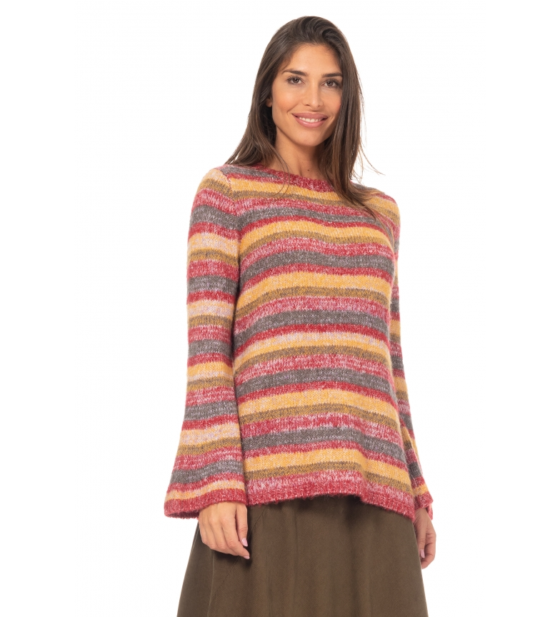 Peace and Love Multicoloured tricot sweater