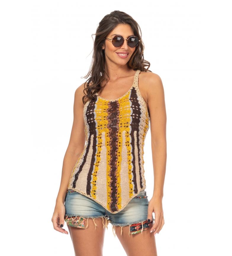 Comprar Peace and Love Top Crochet amarillo