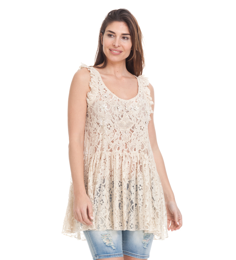 Comprar Peace and Love Top Dian beige
