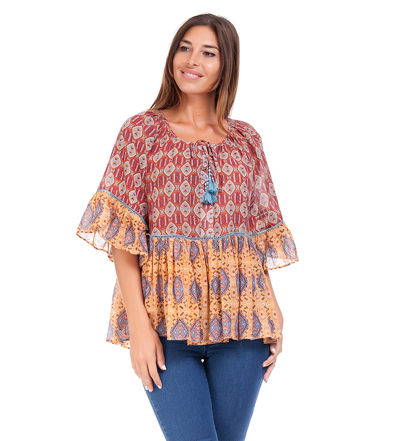 Comprar Peace and Love Blusa Velassaru multicolor