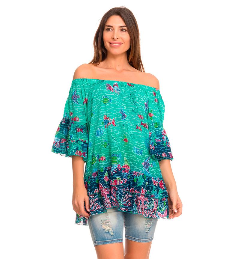Comprar Peace and Love Blusa Fiji verde