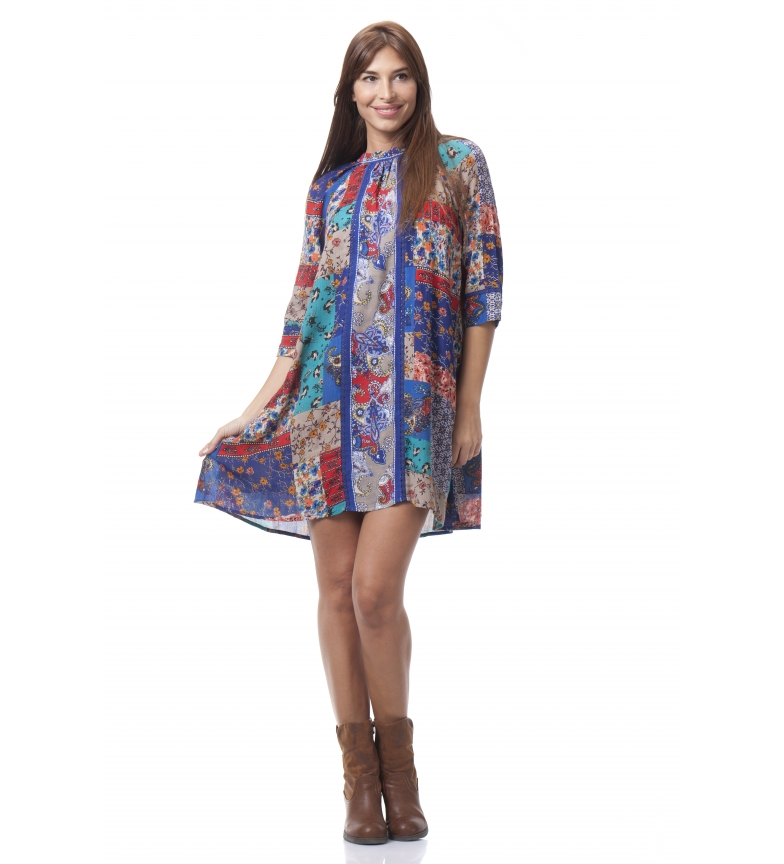 Comprar Peace and Love Vestido Patch Multicolor