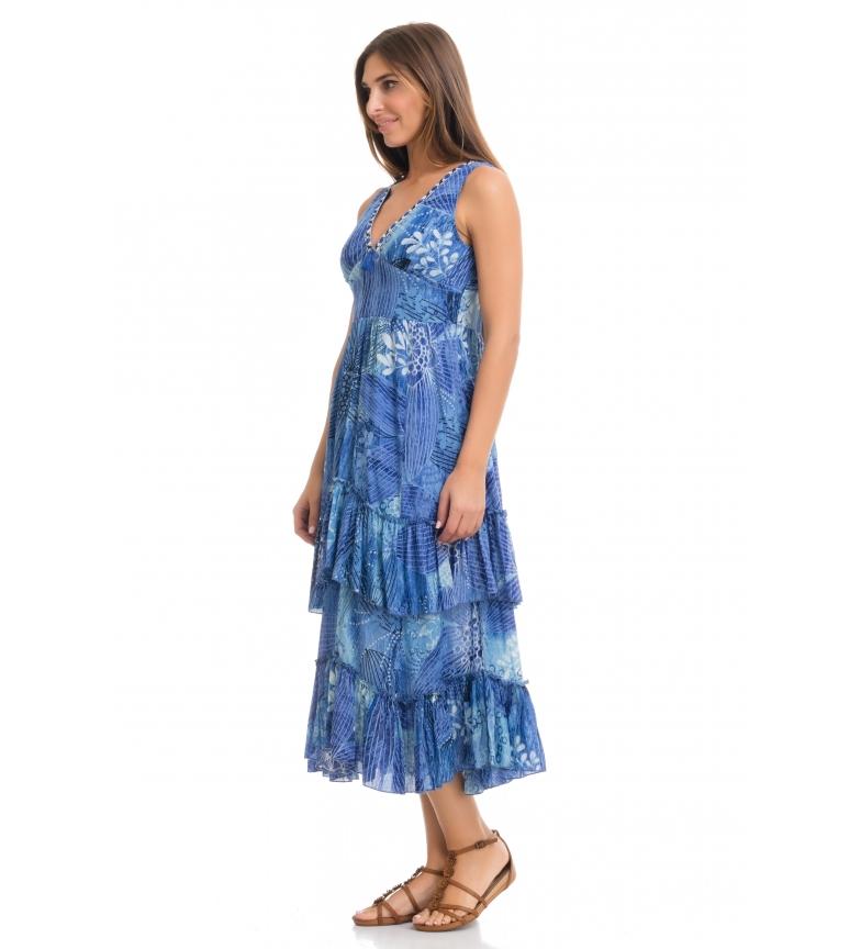 Parana Peace And Love Azul Vestido tQrdsh