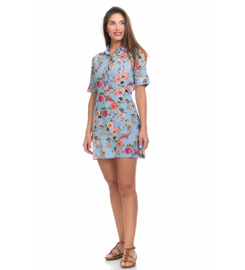 Comprar Peace and Love Blue Print Dress