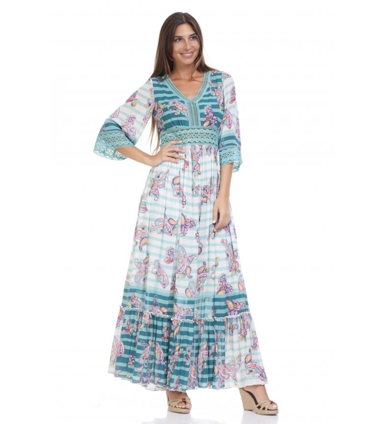 Comprar Peace and Love Vestido Birse azul