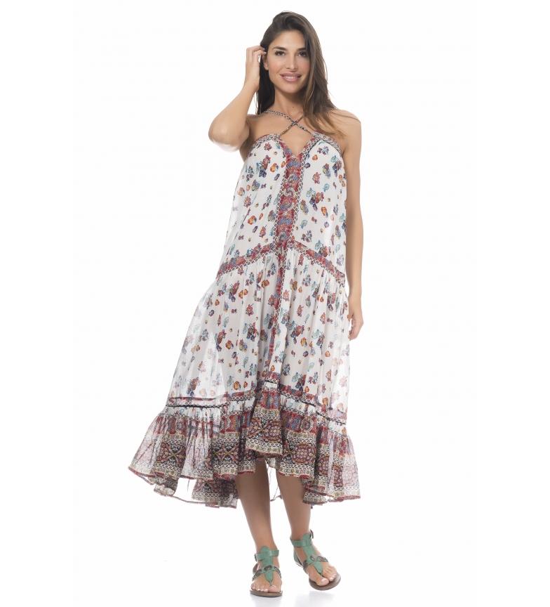 Comprar Peace and Love Long Dress White Print