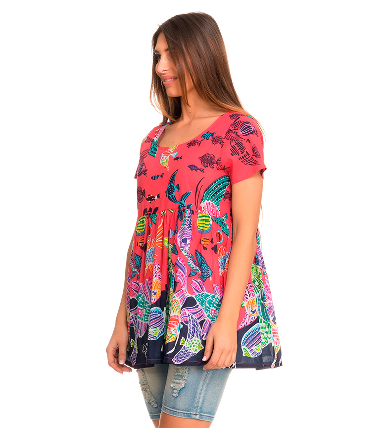 Coral Blusa Peace And Love Waikiki tsQrhd