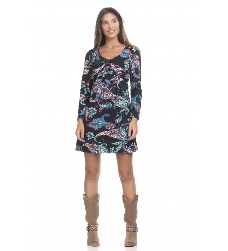 Peace and Love Dress multicolored print