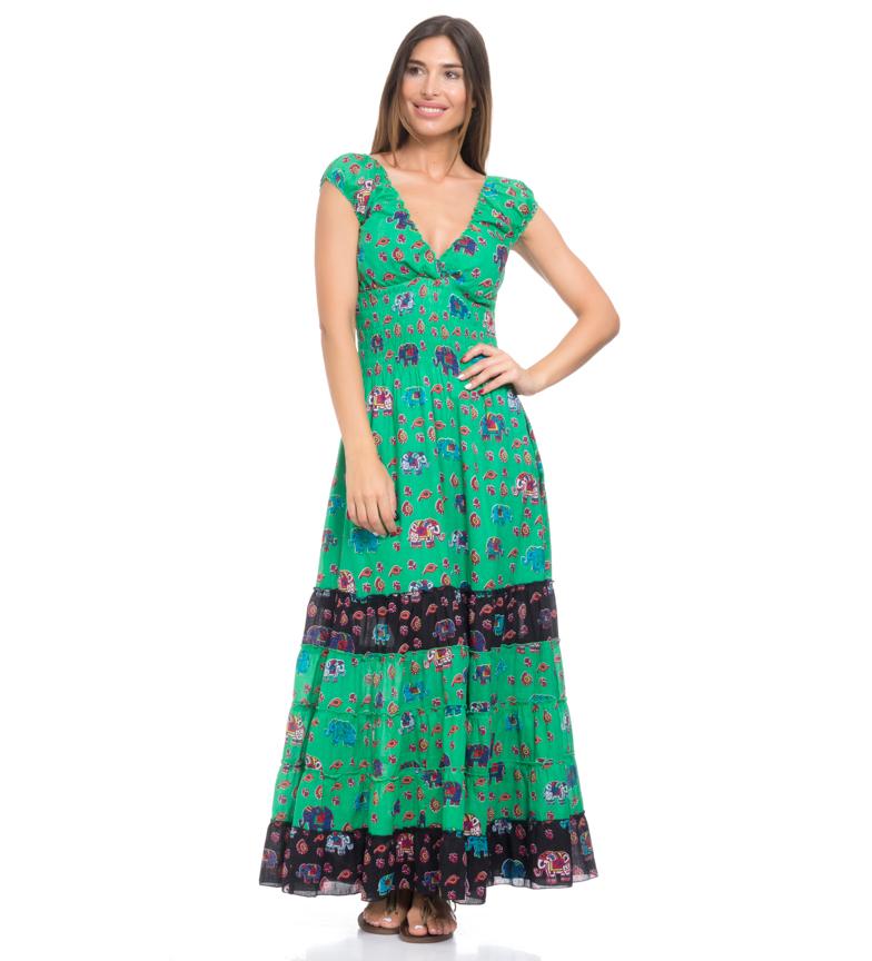 Comprar Peace and Love Robe longue verte Amahy