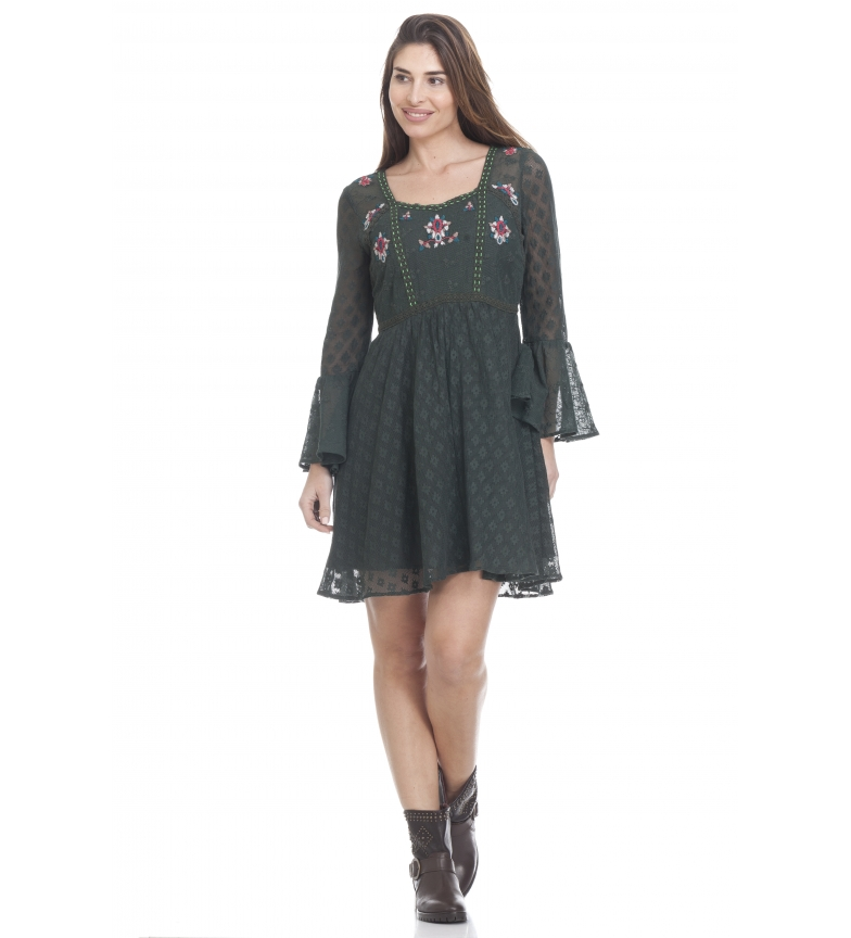 Comprar Peace and Love Flora persimmon dress