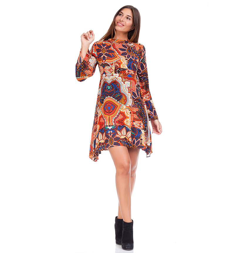 Comprar Peace and Love Multicolored Mandala Dress