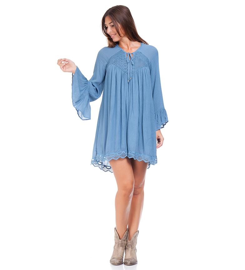 Comprar Peace and Love Vestido Tiara azul