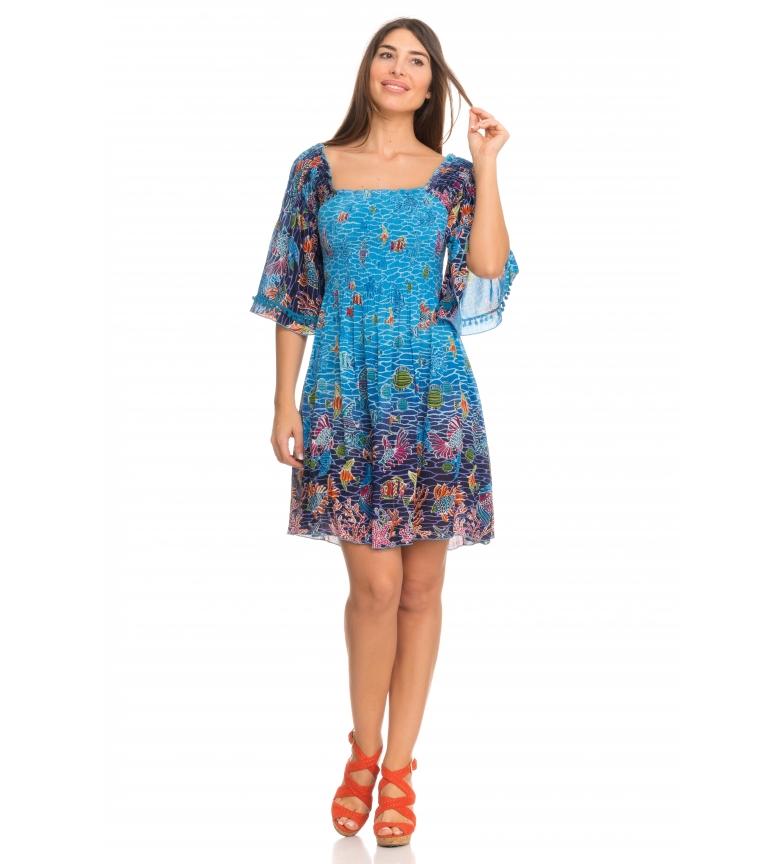 Comprar Peace and Love Sam dress blue, multicolored