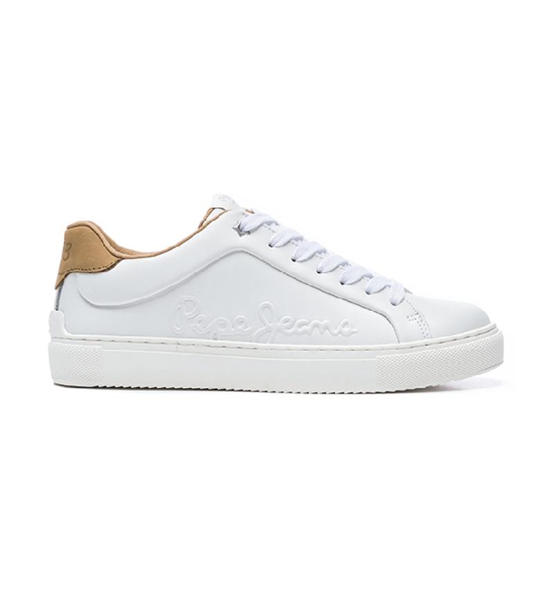 Comprar Pepe Jeans Sneakers Adams Logo20 in pelle bianca