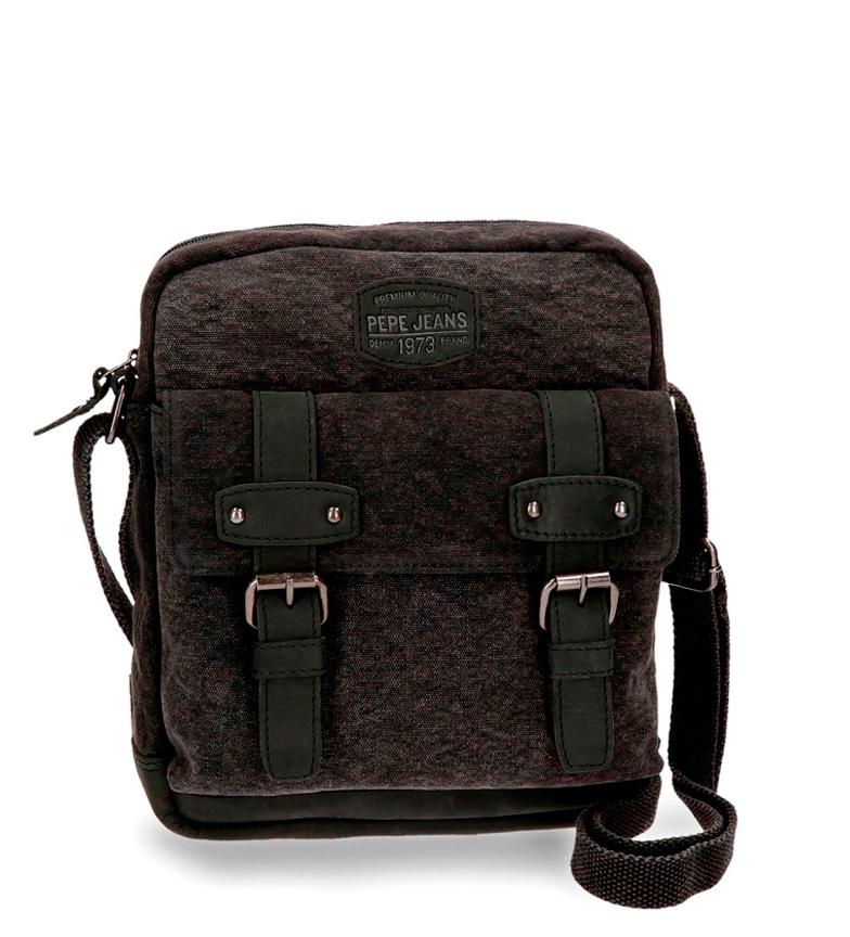 Comprar Pepe Jeans Pepe Jeans Détails sac à bandoulière en cuir noir tablette cheval Porte