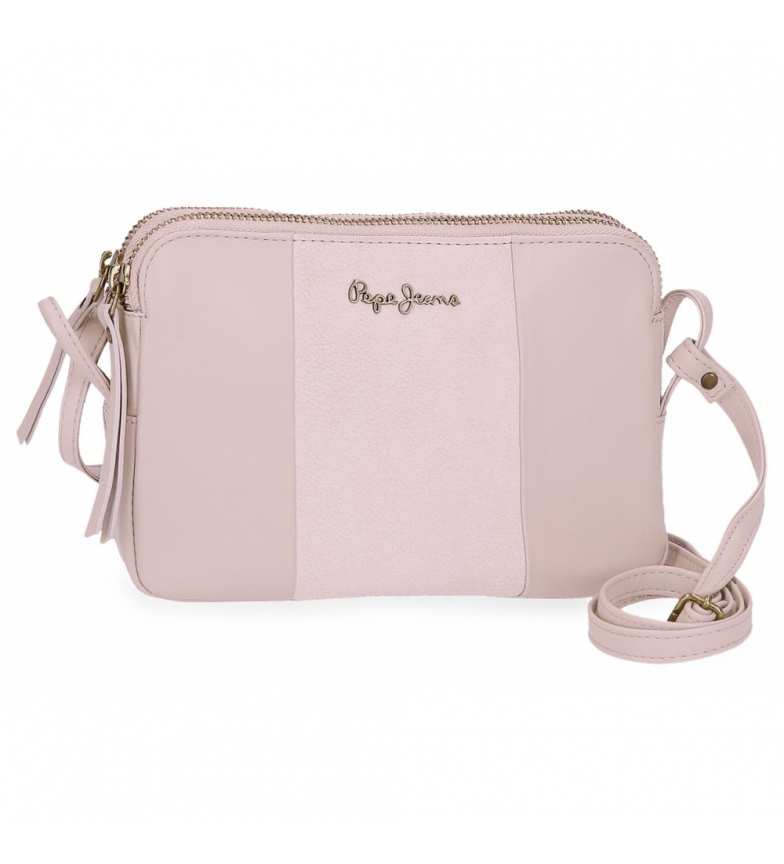 Comprar Pepe Jeans Leather shoulder bag Two Compartments Pepe Jeans Double Pink -19x13x3cm