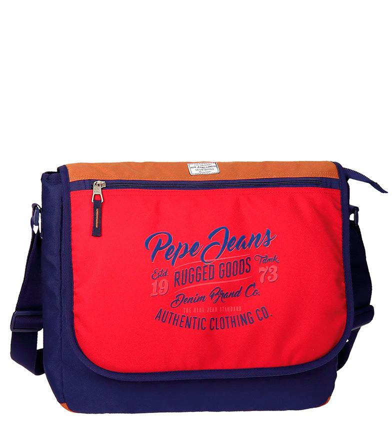 Comprar Pepe Jeans Borsa a tracolla il computer portatile rosso, blu-31x38x10 Jake cm-