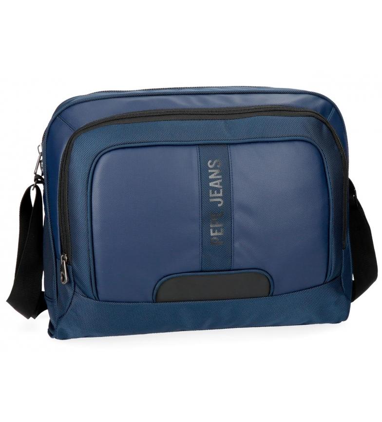 Comprar Pepe Jeans Pepe Jeans Bromley Blue Messenger Bag -39x31x11cm-