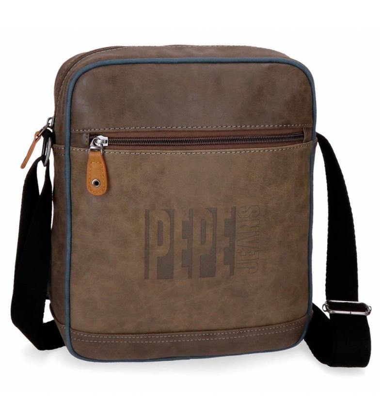Comprar Pepe Jeans Tablet shoulder bag Pepe Jeans Max brown -23x27x6cm