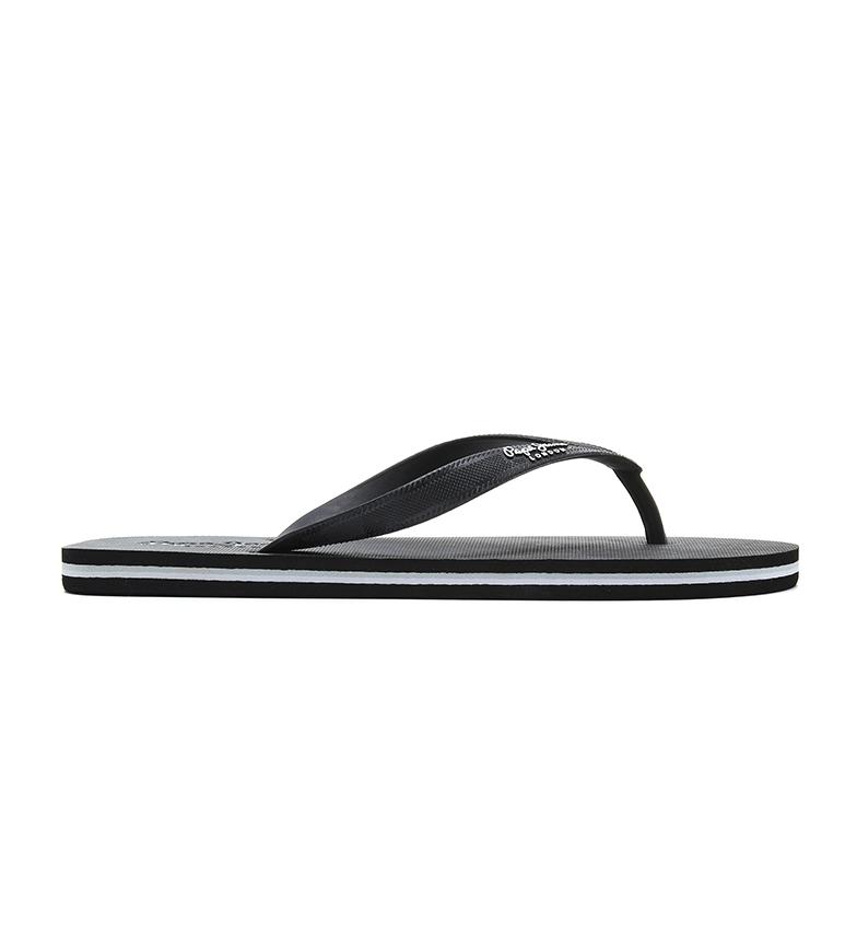 Pepe Jeans Bay Beach Classic chinelos de dedo pretos