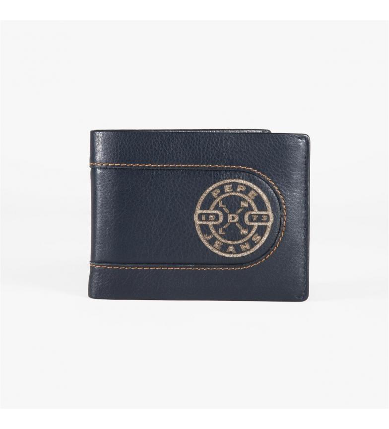 Comprar Pepe Jeans Pepe Jeans Queimado carteira horizontal com carteira removível azul -11x8,5x1 cm-