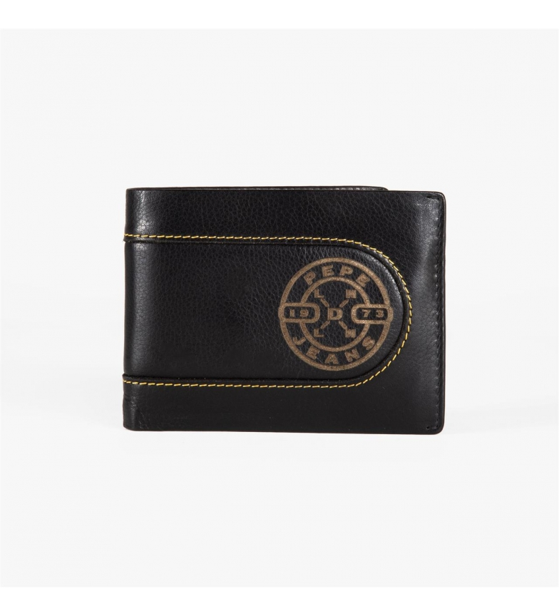 Comprar Pepe Jeans Pepe Jeans Burned horizontal wallet with removable Black Wallet -11x8,5x1 cm-