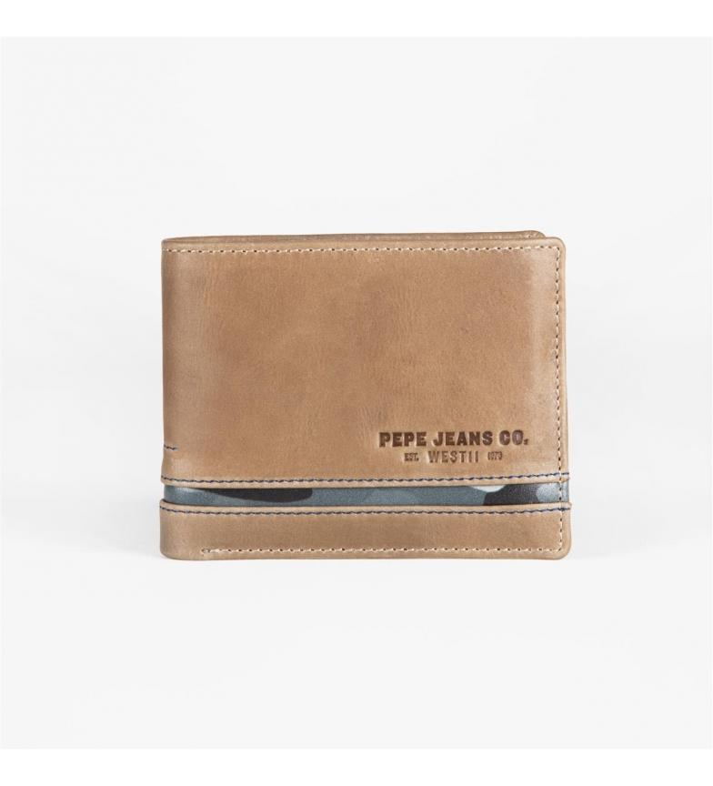 Comprar Pepe Jeans Carteira Pepe Jeans Delta horizontal com carteira removível Marrom -11x8,5x1 cm-