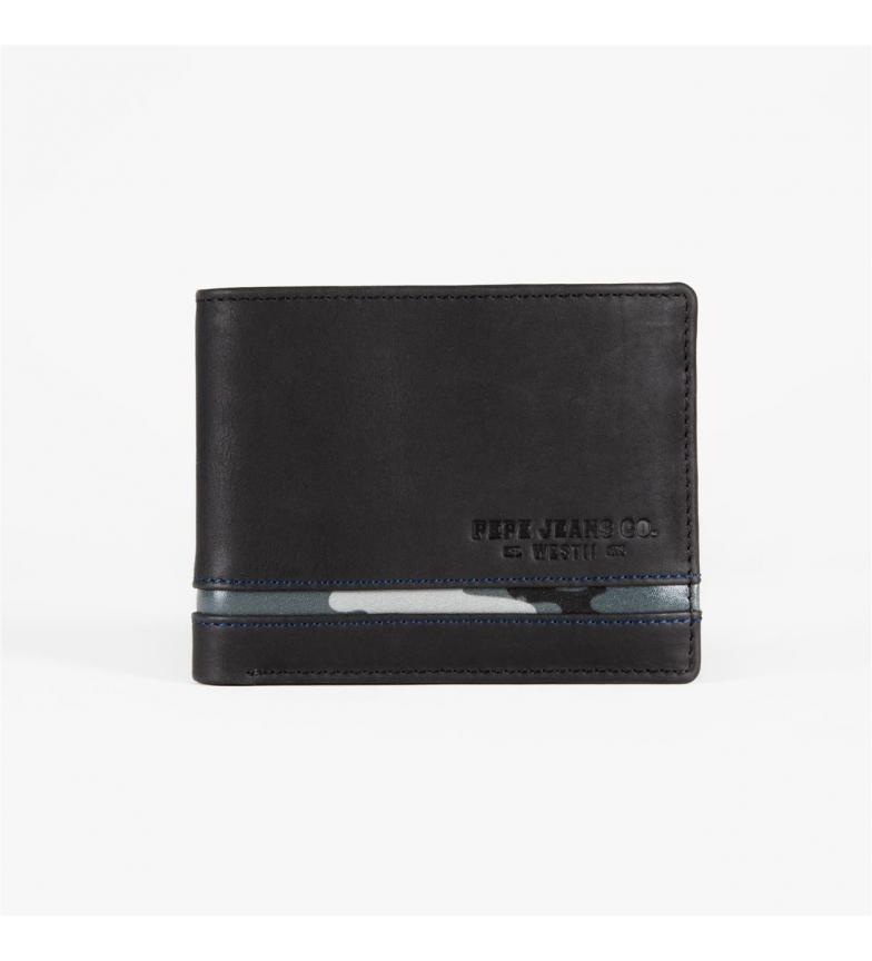 Comprar Pepe Jeans Carteira Pepe Jeans Delta horizontal com Carteira preta removível -11x8,5x1 cm-
