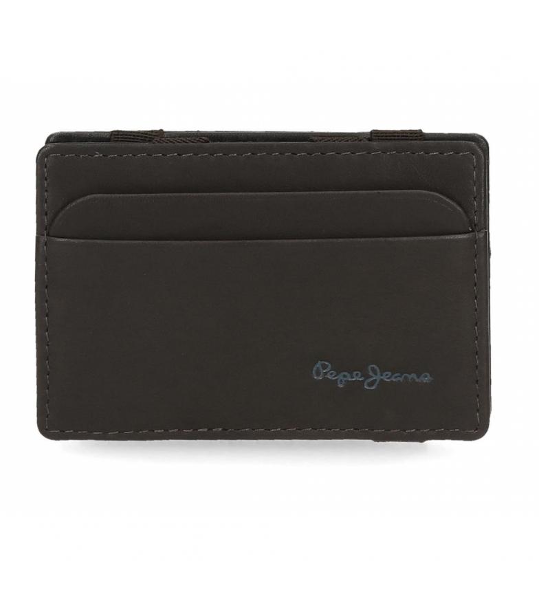 Comprar Pepe Jeans Pepe Jeans carteira de couro Feira com suporte de cartão preto -9.5x6.5x1cm