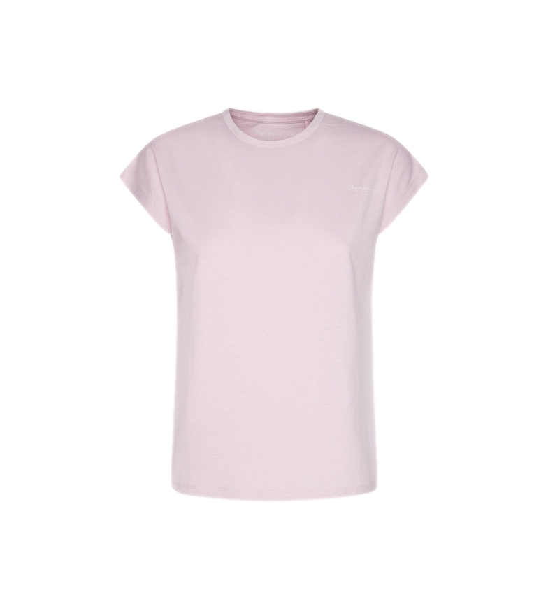 Pepe Jeans T-shirt básica Bloom rosa
