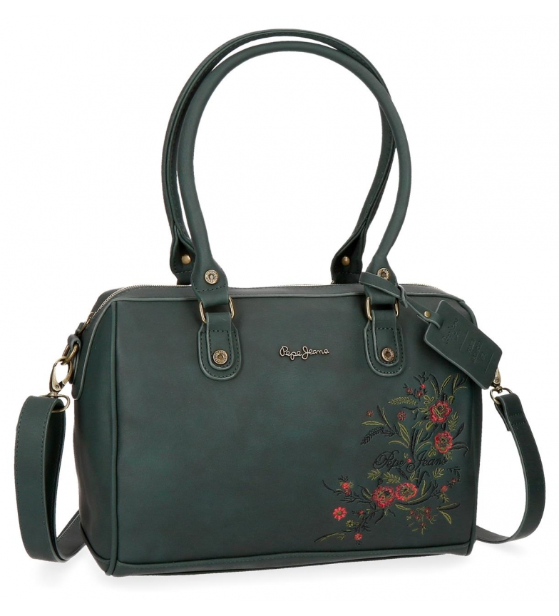 5ed014ee7a1a1 Pepe Jeans - Bolso bowling Lala Verde -30x22x15cm- Mujer chica ...
